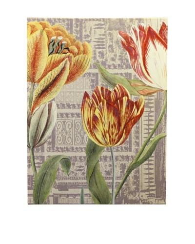 New York Botanical Garden Three Tulips Giclée on Canvas