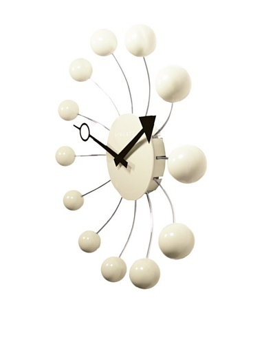 Newgate Orbital Clock, Cream