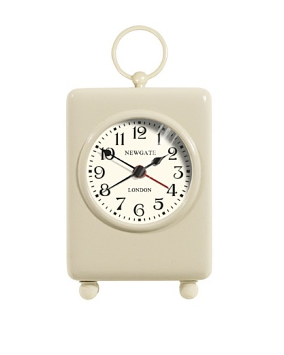 Newgate Carriage Mini Alarm Clock, Cream
