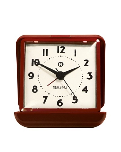 Newgate Nixon Alarm Clock, Red