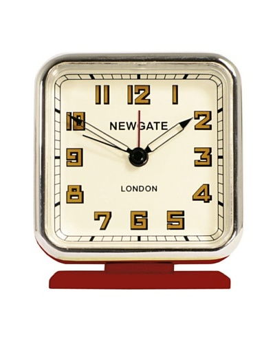 Newgate The Strand Mini Alarm Clock, Red