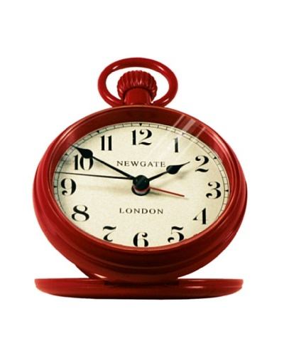 Newgate Regulator Alarm Clock , Red