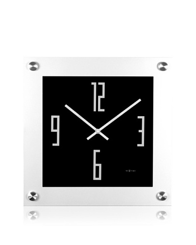 NeXtime Steel Square Wall Clock