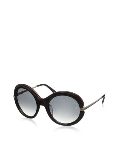Nina Ricci Women's NR3720 Sunglasses, Black/Burgundy