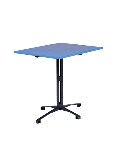 nine6 Design Café Table, Blue/Gray