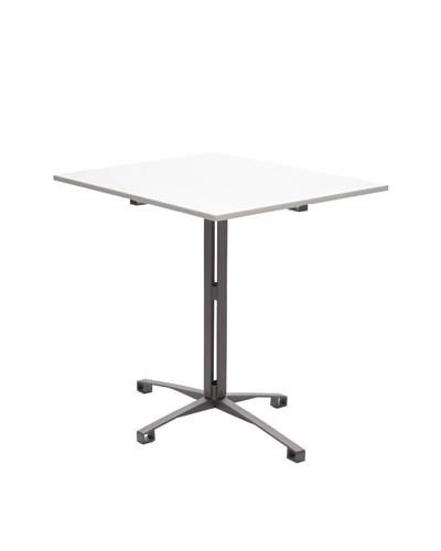nine6 Design Café Table, White/Gray