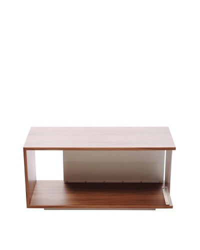 nine6 Design City Life Module Coffee Table, Walnut/White