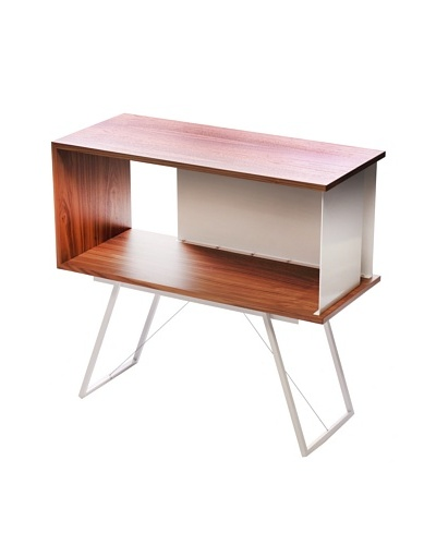 nine6 Design City Life Module Credenza, Walnut/White