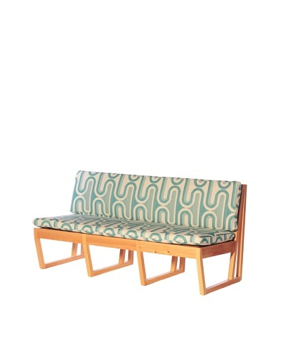 nine6 Design Cypress Indoor/Outdoor Jacinto Sofa, Turquoise/Blonde