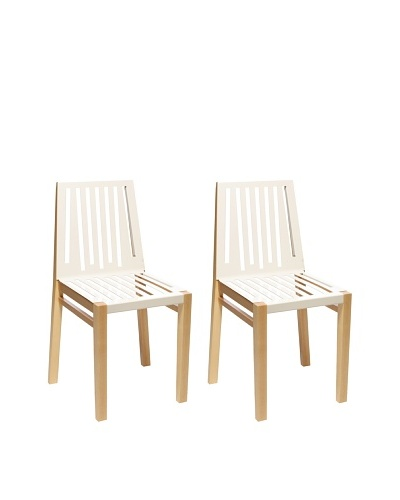 nine6 Design Set of 2 Marlowe Chairs, Ash/White