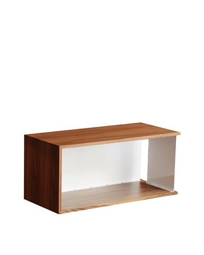 nine6 Design City Life Module Wall Cabinet, Walnut/White