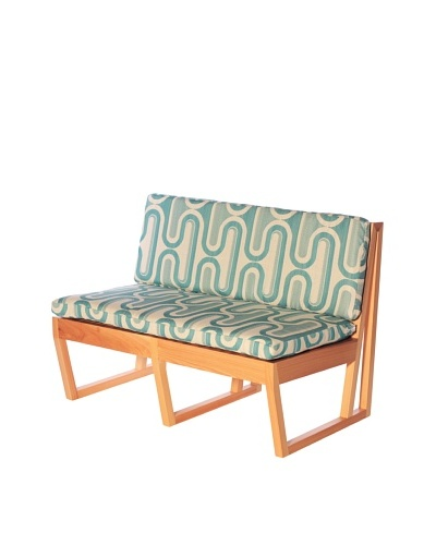 nine6 Design Cypress Indoor/Outdoor Jacinto Loveseat, Turquoise/BlondeAs You See