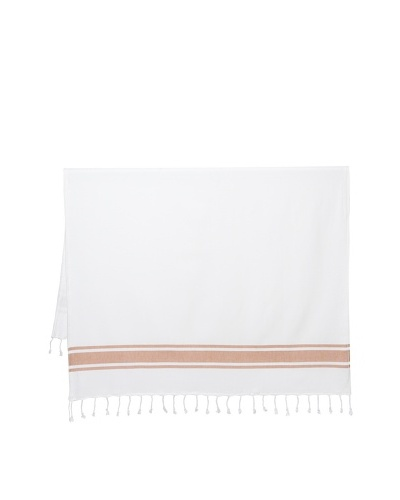 Nine Space Ocean Turkish Terry Fouta Towel, Orange