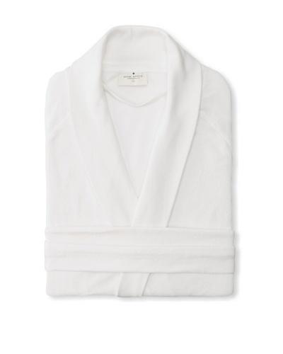Nine Space Organic Cotton Velour Robe, White, Small/Medium