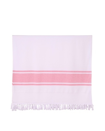 "Nine Space Ayrika Collection Extra-Soft Terry Fouta Towel, Red, 40"" x 71"""