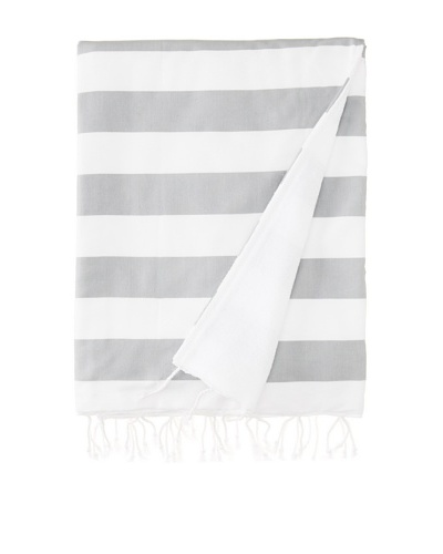 Nine Space Ayrika Beach Collection Wide Stripe Terry Fouta Towel