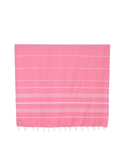 Nine Space Ayrika Collection Stripes Fouta Towel, Coral