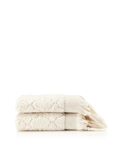 Pure Fiber Set of 2 Delight Hand Towels [Oatmeal]