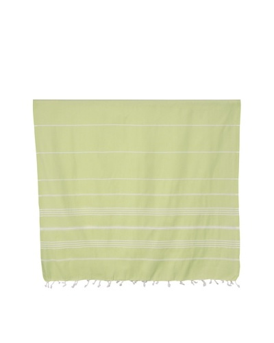 Nine Space Ayrika Collection Stripes Fouta Towel, Green