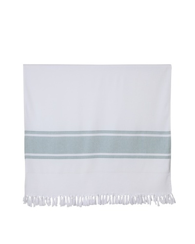 """Nine Space Ayrika Collection Extra-Soft Terry Fouta Towel, Green, 40"""" x 71"""""""
