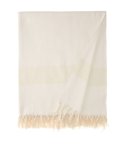 Nine Space Diamond Throw, Ivory