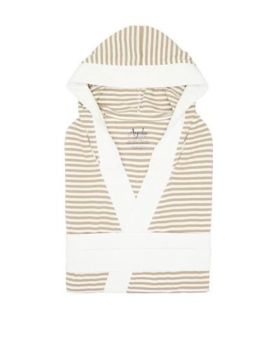 Nine Space Knee Length Striped Jersey Knit Robe