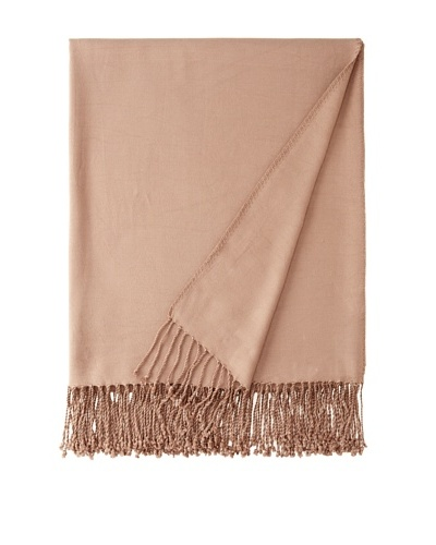 "Nine Space Viscose from Bamboo Solid Throw Blanket, Taupe, 50"" x 70"""