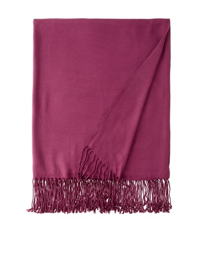 Nine Space Viscose from Bamboo Solid Throw Blanket, Plum, 50 x 70