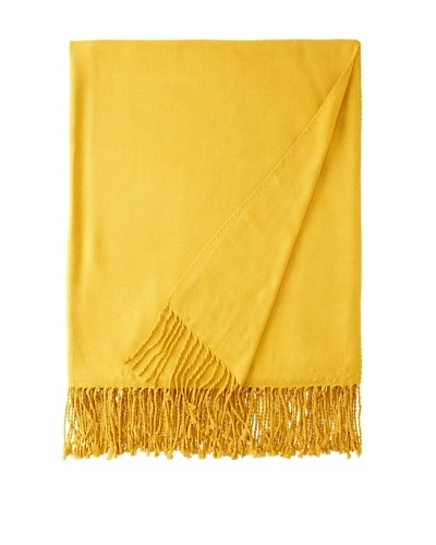 """Nine Space Viscose from Bamboo Solid Throw Blanket, Mustard, 50"""" x 70"""""""