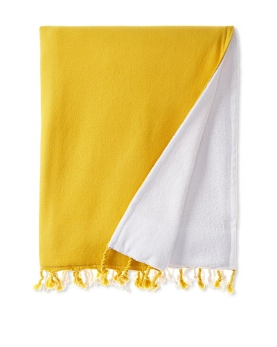 Nine Space Dip Dye Fouta Terry Towel, Yellow