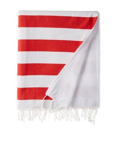 Nine Space Deck Beach Towel, Red