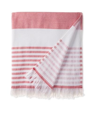 Nine Space Carmel Stripe Beach Towel, Red