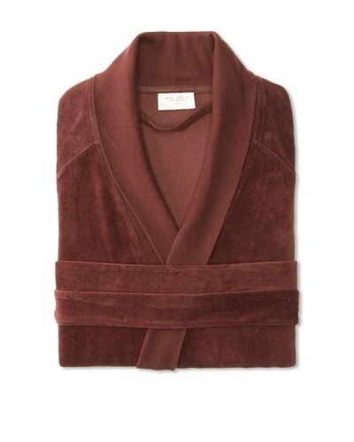 Nine Space Organic Cotton Velour Robe, Chocolate, Large/X-Large