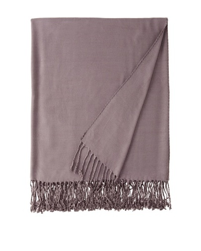 Nine Space Viscose In Solid Throw Blanket, Slate, 50 x 70As You See