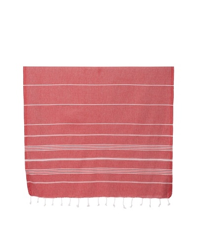Nine Space Ayrika Collection Stripes Fouta Towel, Red