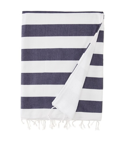 Nine Space Ayrika Beach Collection Wide Stripe Terry Fouta Towel [Blue]