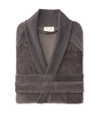 Nine Space Organic Cotton Velour Robe, Grey, Small/Medium