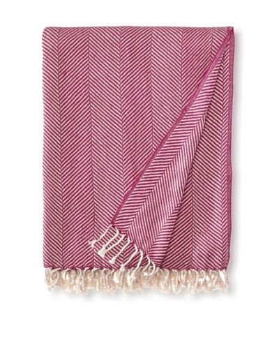 Nine Space Organic Cotton Herringbone Throw
