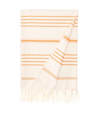 Nomadic Thread Society Turkish Hammam Throw/Towel, Natural/Orange, 71x35As You See