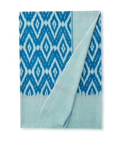 Nomadic Thread Society Single Ikat Bed Cover, Aqua/Blue, TwinAs You See