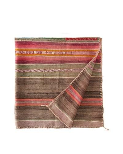 Nomadic Thread Society Peruvian Vintage Throw, Greys/Pink/Orange, 42 x 42As You See