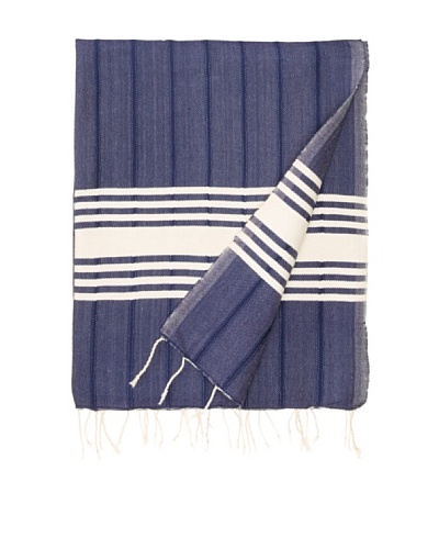Nomadic Thread Society Turkish Hammam Throw/Towel, Navy, 67x31As You See