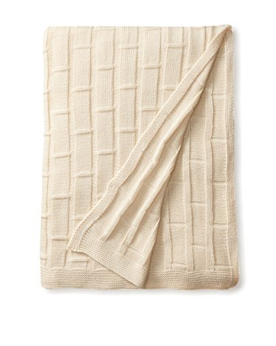 Nomadic Thread Society Peruvian Cotton Blanket, Ecru
