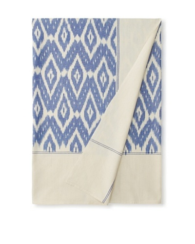 Nomadic Thread Society Single Ikat Bed Cover, Blue/White, TwinAs You See