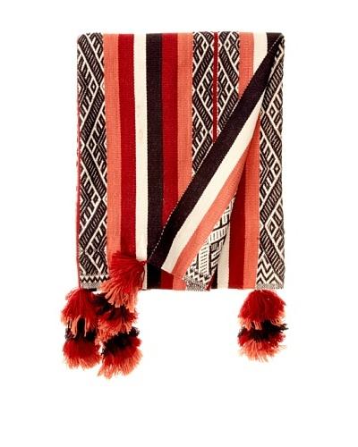 Nomadic Thread Society Patacancha Manta/Throw, Red/Coral/Navy