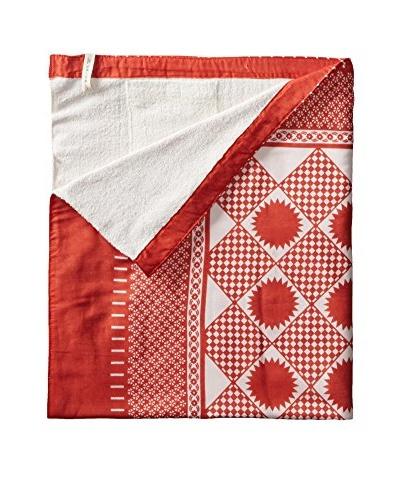 Nomadic Thread Society Swahili Towel, Orange/White