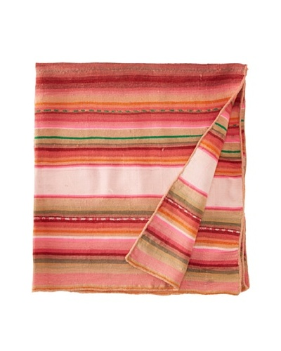 Nomadic Thread Society Peruvian Vintage Throw, Grey/Pink/Red, 43.5 x 36As You See