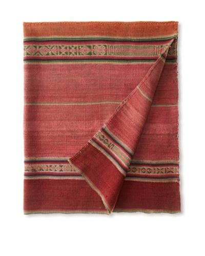 Nomadic Thread Society Peruvian Vintage Throw, Pink, Red/Orange, 44 x36As You See