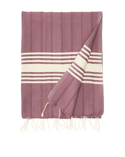 Nomadic Thread Society Turkish Hammam Throw/Towel, Purple, 67x31As You See