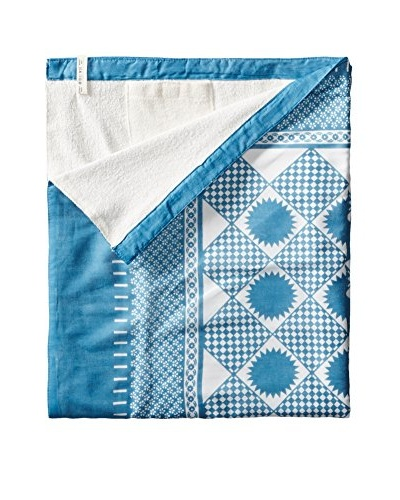 Nomadic Thread Society Swahili Towel, Blue/White